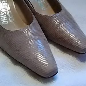 Authentic Salvatore Ferragamo Leather Heels